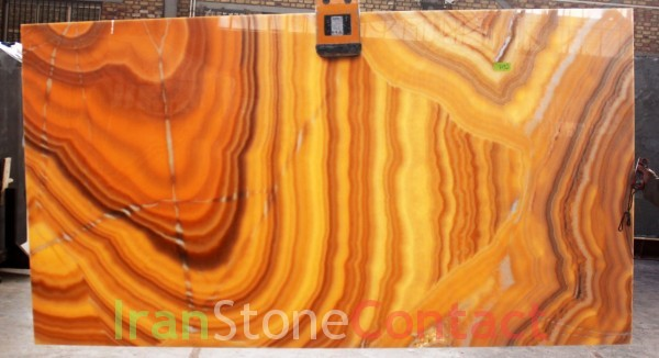 Orange honey onyx