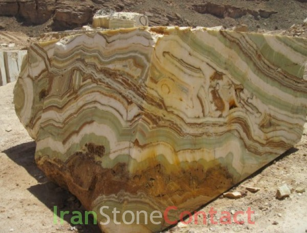 Exotic white Green onyx