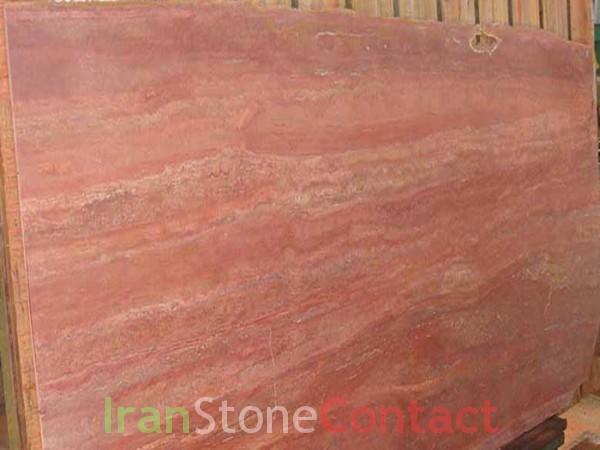 red travertine slab