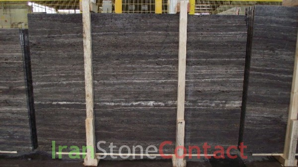 Titanium travertine slab