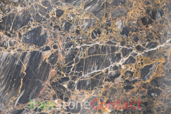 golden galaxy marble with fossil texture
