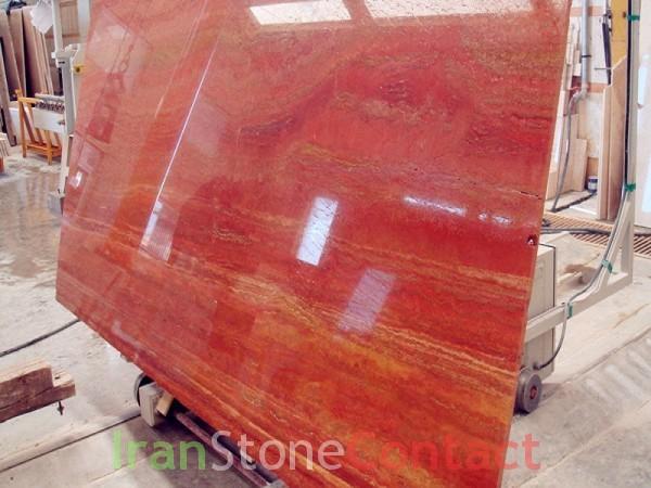 Red persian travertine