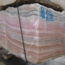 pink onyx block