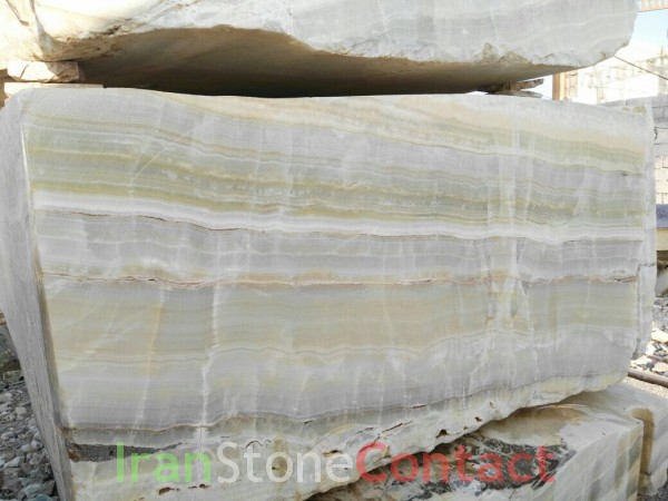 White onyx with light green veins
