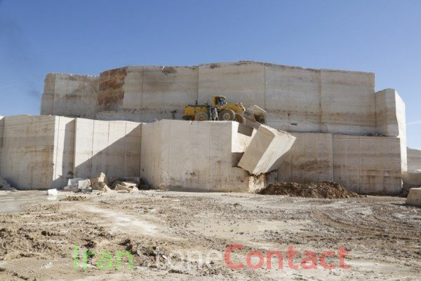 Tajareh Chocolate Travertine Quarry
