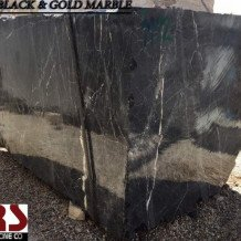 3D Black and Golden Marble